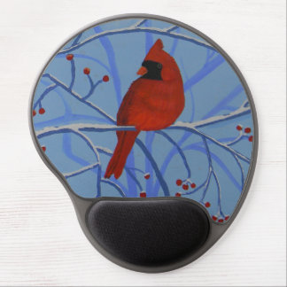 Cheerful heart Cardinal Gel Mouse Pad
