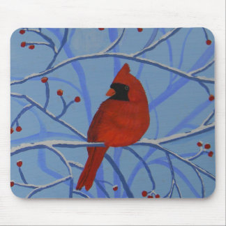 Cheerful heart Cardinal Mouse Pad