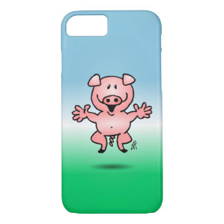 Cheerful little pig iPhone 7 case
