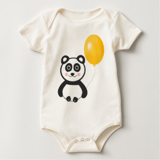 Cheerful Panda Baby Bodysuit