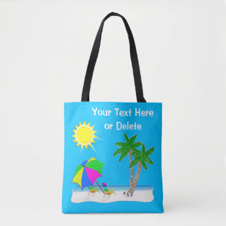 Cheerful Personalized Beach Tote Bags