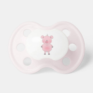 Cheerful Pink Pig Cartoon Pacifier