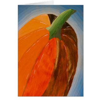 Cheerful Pumpkin Card