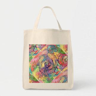 Cheerful Rainbow Swirl Tote