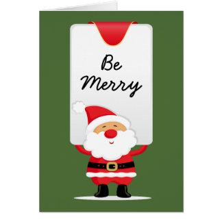Cheerful Santa Personalised Christmas Card
