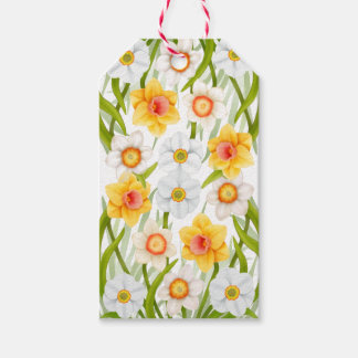 Cheerful Spring Daffodils Gift Tags