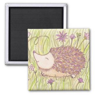 Cheerful Springtime Hedgehog Magnet