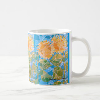Cheerful Sunflower Abstract Coffee Cup Tea Mug