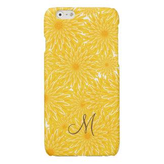 Cheerful sunny yellow dandelion pattern monogram