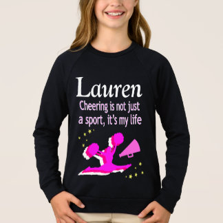 CHEERING IS MY LIFE PERSONALIZED SWEATSHIRT