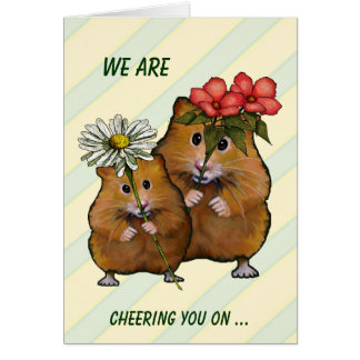 Cheering You On in Fight Against Cancer: Hamster Card