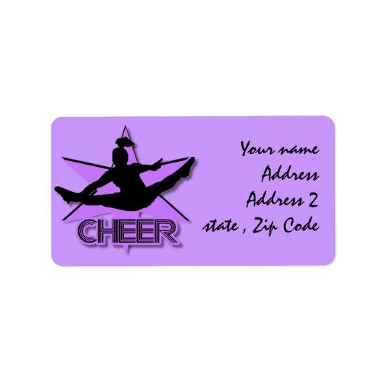Cheerleader Address Label
