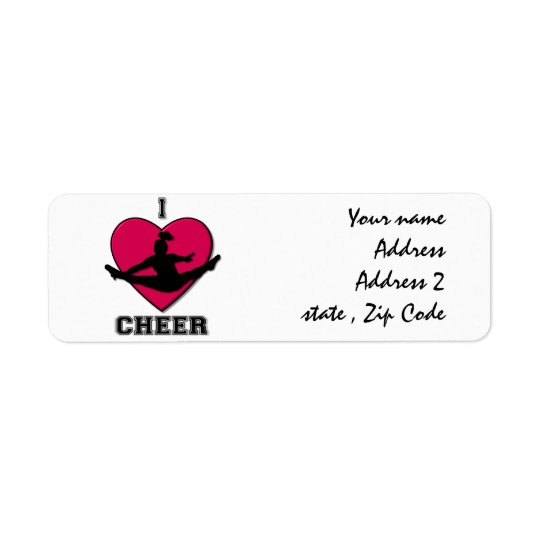 Cheerleader address labels