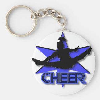 Cheerleader Basic Round Button Key Ring