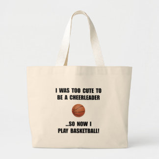 Cheerleader Basketball Large Tote Bag