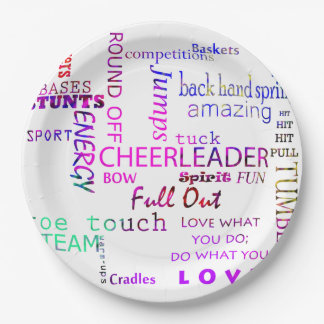 Cheerleader Birthday Party Paper Plates