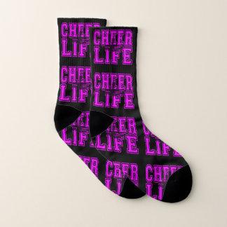 Cheerleader black and pink  socks 1