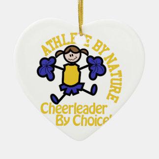 Cheerleader By Choice Ceramic Ornament
