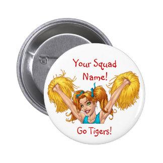 Cheerleader Cheerleading Customizable Button