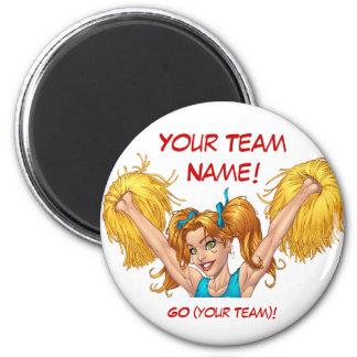 Cheerleader Cheerleading Customizable Stuff 6 Cm Round Magnet