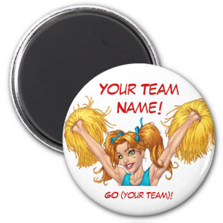 Cheerleader Cheerleading Customizable Stuff Magnet