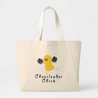 Cheerleader Chick Large Tote Bag