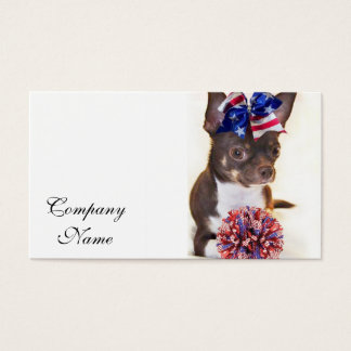 Cheerleader Chihuahua dog Business Card