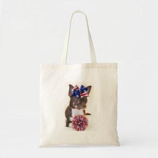 Cheerleader Chihuahua dog Tote Bag