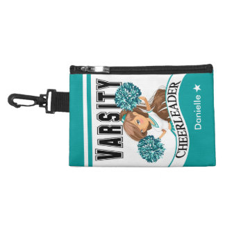 Cheerleader choose your school colors turquoise accessories bag