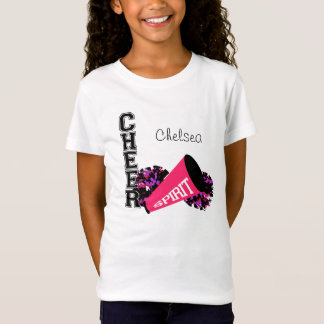 Cheerleader Customizable Pink T-Shirt