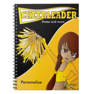 Cheerleader | DIY Name | Yellow Spiral Notebook