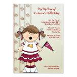 Cheerleader Girl Birthday Party Invitation 13 Cm X 18 Cm Invitation Card