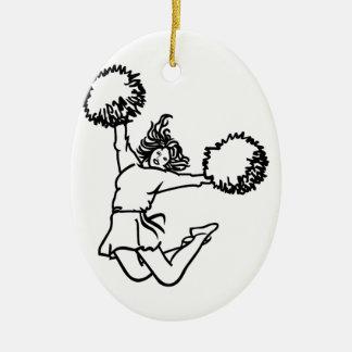 Cheerleader Girl Ceramic Ornament