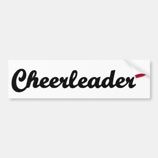 Cheerleader heart bumper stickers