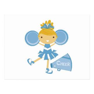 Cheerleader in Blue Postcard
