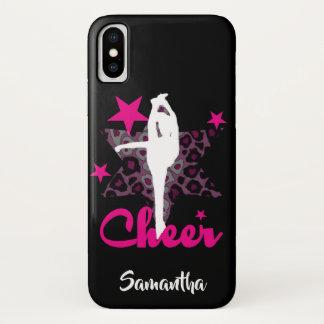 Cheerleader in pink iphone x case