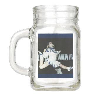 Cheerleader Mason Drinking Jar with Handle