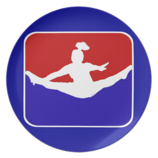 Cheerleader melamine plate