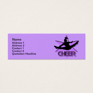 Cheerleader Mini Business Card