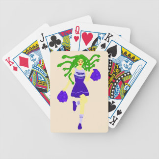 cheerleader monster bicycle playing cards