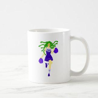 cheerleader monster coffee mug