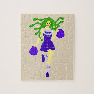 cheerleader monster jigsaw puzzle