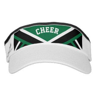 Cheerleader Outfit in Dark Green Visor