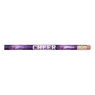 Cheerleader purple galaxy personalized pencil