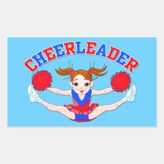 Cheerleader Rectangular Sticker