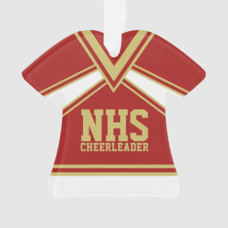 Cheerleader Red and Gold with Varsity Letters Ornament