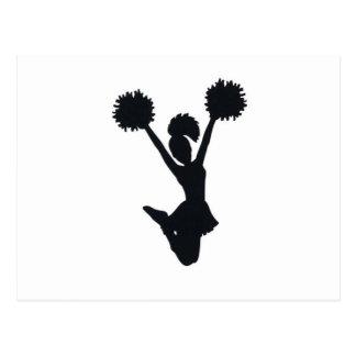 Cheerleader Silhouette Postcard