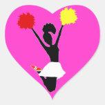 Cheerleader Silhouette Stickers