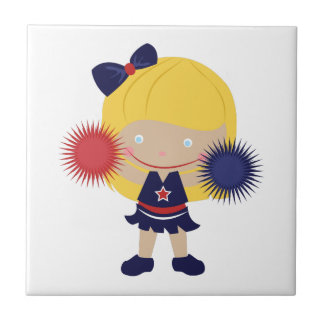 Cheerleader Small Square Tile