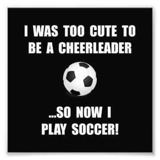 Cheerleader Soccer Art Photo